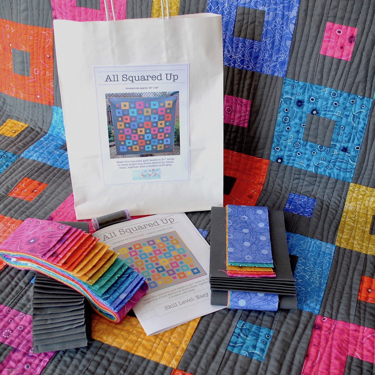 All Squared Up Quilt Kit In Alison Glass S Sun Prints Ukqu