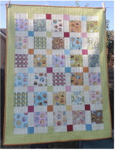 disappearing 9 patch baby quilt pattern free