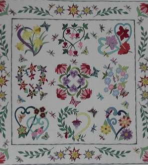 'Connie's Flower Garden' Block of the Month Patterns