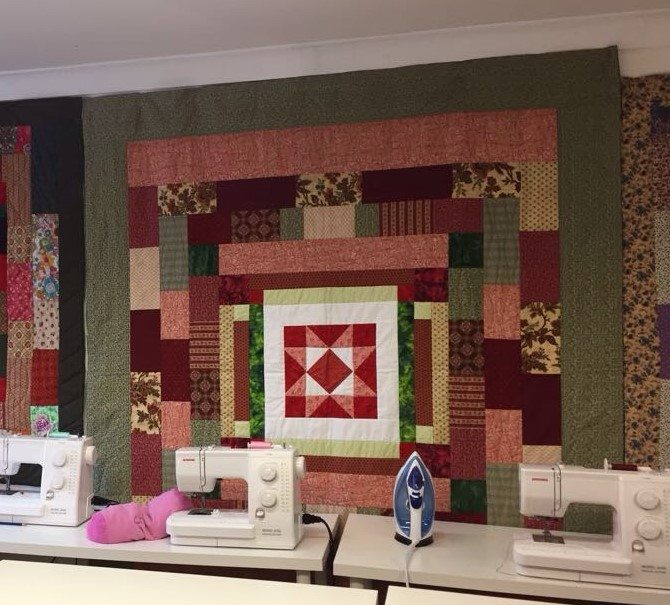 quilt, on display