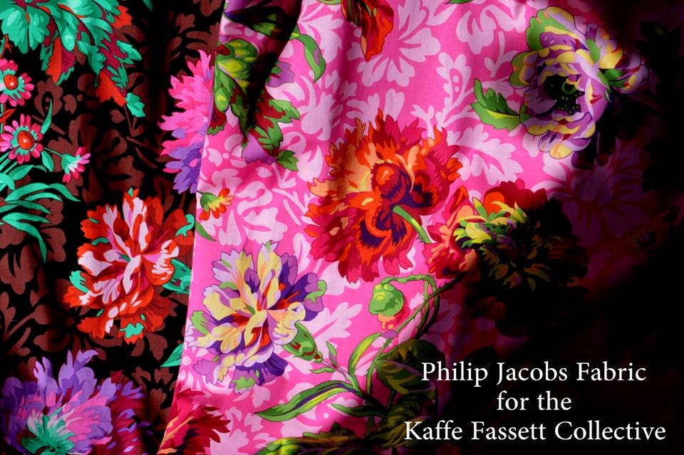 Philip Jacobs,Quilt Shop  Fabric Baroque floral red Kaffe Fassett Collective
