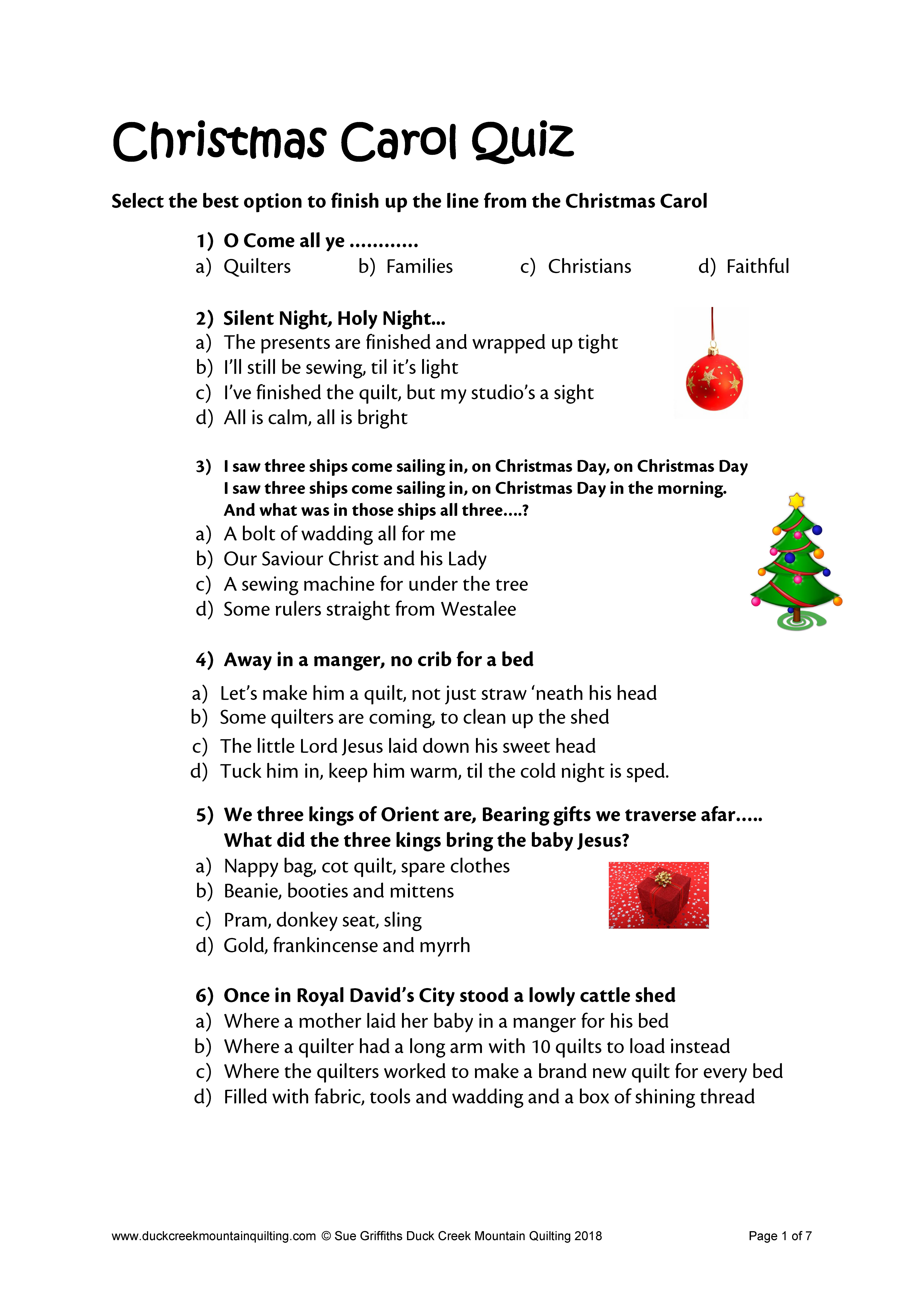 A Christmas Carol Quiz Questions And Answers.Christmas Quiz Number One Ukqu